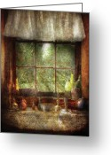 Thank You Greeting Cards - Kitchen - Table Setting Greeting Card by Mike Savad