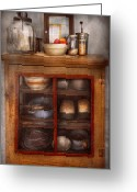 Cabinet Room Greeting Cards - Kitchen - The cooling cabinet Greeting Card by Mike Savad
