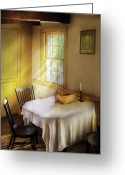 Table Cloth Greeting Cards - Kitchen - The empty basket Greeting Card by Mike Savad