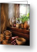 Busy Greeting Cards - Kitchen - Try to keep busy  Greeting Card by Mike Savad