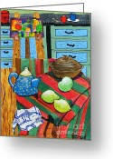 Carolinestreet Greeting Cards - Kitchen Art Greeting Card by Caroline Street