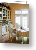 Appliances Greeting Cards - Kitchen Cabinets and Table Greeting Card by Andersen Ross
