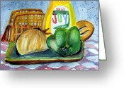 Table Drawings Greeting Cards - Kitchen Joy Greeting Card by Mindy Newman