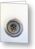 Drain Greeting Cards - Kitchen sink drain Greeting Card by John Van Decker