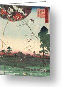 Kites Greeting Cards - Kites of Fukuroi Greeting Card by Padre Art