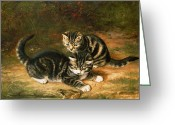 Toad Greeting Cards - Kittens   Greeting Card by Horatio Henry Couldery