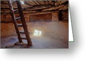 Ceremony Greeting Cards - Kiva Interior Greeting Card by Utah Images