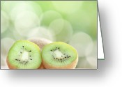 Kiwi Greeting Cards - Kiwi Bush Greeting Card by Peter Chadwick LRPS