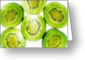 Kiwi Greeting Cards - Kiwi Greeting Card by Drew Castelhano