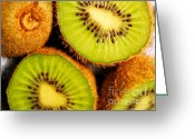 Kiwi Greeting Cards - Kiwi Fruit Greeting Card by Nancy Mueller