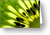 Slice Greeting Cards - Kiwi Greeting Card by Gert Lavsen