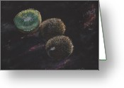 Kiwi Pastels Greeting Cards - Kiwis Greeting Card by Horacio Prada