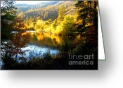 Fall River Scenes Painting Greeting Cards - Klam.12-25c Greeting Card by Shasta Eone