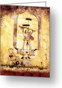 Paul Klee Greeting Cards - Klee: Dance, 1922 Greeting Card by Granger