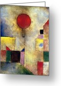 Paul Klee Photo Greeting Cards - Klee: Red Balloon, 1922 Greeting Card by Granger