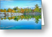 Klondike Greeting Cards - Klondike Park Quarry Lake Greeting Card by Bill Tiepelman