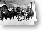 Klondike Greeting Cards - Klondike Street Scene Greeting Card by Granger