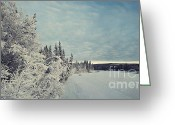 Icy Greeting Cards - KlondikeRiver Greeting Card by Priska Wettstein