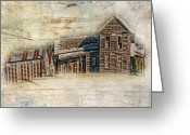 Shed Digital Art Greeting Cards - Klutts Farm number three Greeting Card by Sue Fulton