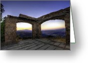 Santa Barbara Digital Art Greeting Cards - Knapps Castle I Greeting Card by Lynn Andrews