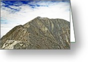 Baxter Park Greeting Cards - Knife Edge on Mount Katahdin Baxter State Park Maine Greeting Card by Brendan Reals