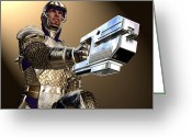 Round Table Greeting Cards - Knight 3000 Greeting Card by Steve Thorpe