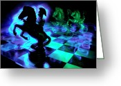Game Piece Greeting Cards - Knight Moves Greeting Card by Barbara  White
