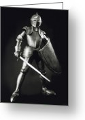 Armor Greeting Cards - Knight Greeting Card by Tony Cordoza