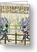 Jousting Greeting Cards - Knights: Trial By Combat Greeting Card by Granger