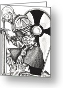 Prayer Warrior Greeting Cards - Knights Vigil Greeting Card by Robert Kimball