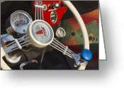 Classic Ford Roadster Greeting Cards - Knobs and Guages Greeting Card by Peter Chilelli