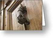 Varnish Greeting Cards - Knocker Greeting Card by Bernard Jaubert