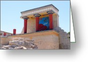 Fresco Greeting Cards - Knossos North Gate view Greeting Card by Paul Cowan