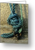 Mooring Greeting Cards - Knots Greeting Card by Bernard Jaubert