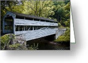 Bill Cannon Greeting Cards - Knox Covered Bridge - Valley Forge Greeting Card by Bill Cannon
