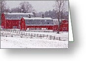 Buffalo New York Greeting Cards - Knox Farm Snowfall Greeting Card by Don Nieman