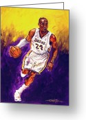 Basketball Greeting Cards - Kobe  Greeting Card by Brian Child