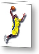 Male Athletes Greeting Cards - Kobe Bryant 8 Greeting Card by Walter Neal