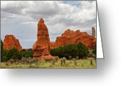 Kodachrome Greeting Cards - Kodachrome Basin State Park Greeting Card by Lana Trussell