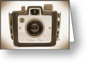 Camera Digital Art Greeting Cards - Kodak Brownie Holiday Flash Greeting Card by Mike McGlothlen