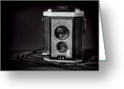 Black And White Greeting Cards - Kodak Brownie Greeting Card by Scott Norris