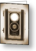 Camera Digital Art Greeting Cards - Kodak Duaflex Camera Greeting Card by Mike McGlothlen