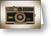White Digital Art Greeting Cards - Kodak Instamatic Camera Greeting Card by Mike McGlothlen