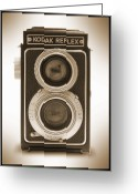 Camera Digital Art Greeting Cards - Kodak Reflex Camera Greeting Card by Mike McGlothlen