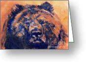 Kodiak Painting Greeting Cards - Kodiak Greeting Card by Clement richard Prebles