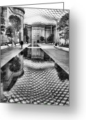 Acrylic Print Greeting Cards - Kogod Courtyard I Greeting Card by Steven Ainsworth