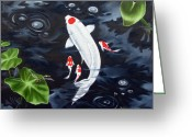 Ilse Kleyn Greeting Cards - Koi Greeting Card by Ilse Kleyn