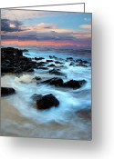 Tides Greeting Cards - Koloa Dawn Greeting Card by Mike  Dawson
