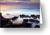 Flow Greeting Cards - Koloa Sunrise Greeting Card by Mike  Dawson