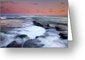 Ebb Greeting Cards - Koloa Sunset Greeting Card by Mike  Dawson